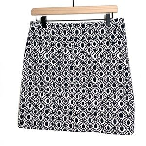 NWT Talbots navy and white pencil skirt